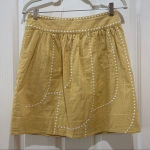 "Anthropologie Floreat ""Enchanted Beans"" Skirt Sz 2"
